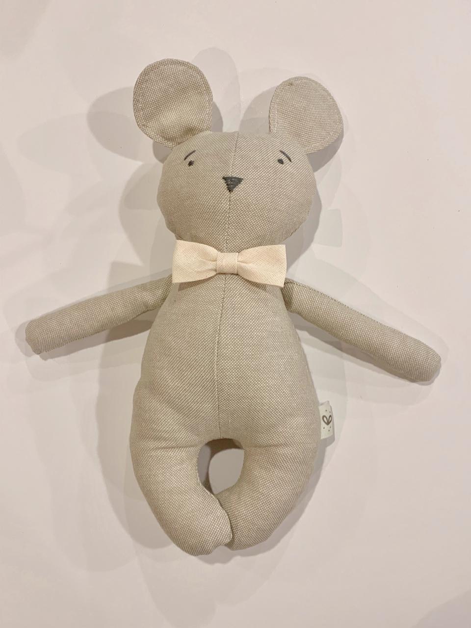 Mini oso corbata beige
