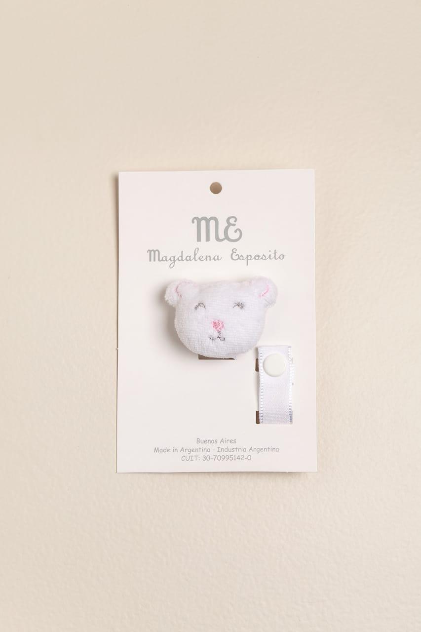 Portachupete oso rosa