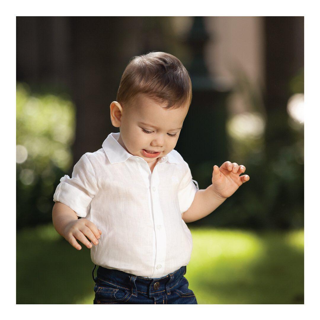 Camisa de lino Giorgio blanco