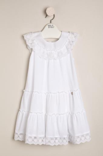 Vestido alg. puntillas blanco
