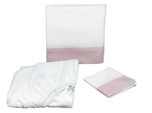 Sabana cuna 3 piezas 200h rosa quartzo