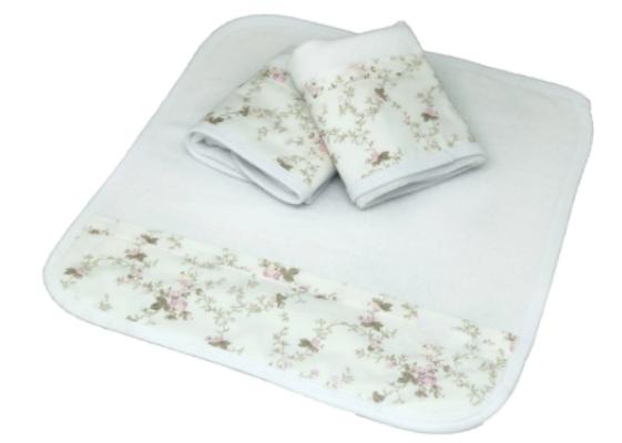 Kit de 3 babitas toalla floral liberty