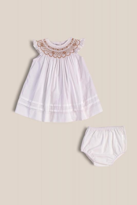 Vestido Josefina blanco smock bl