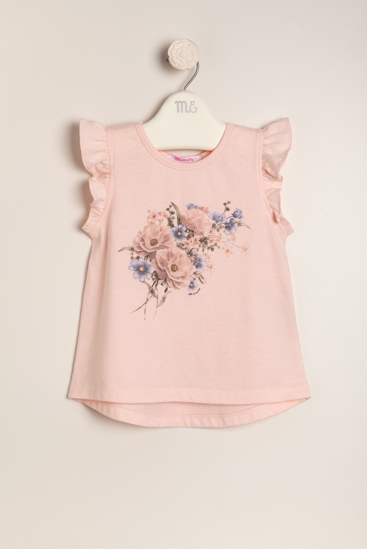 Remera estamp floral rosa
