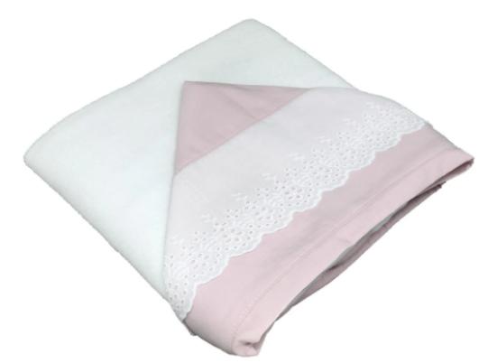 Toalla de baño doble bord. ingles rosa