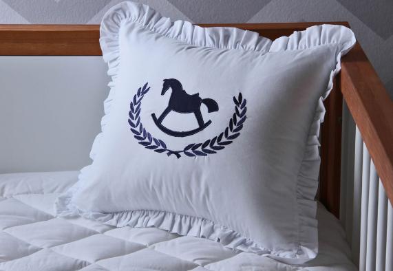 Almohada pers. Cavalinho azul marino