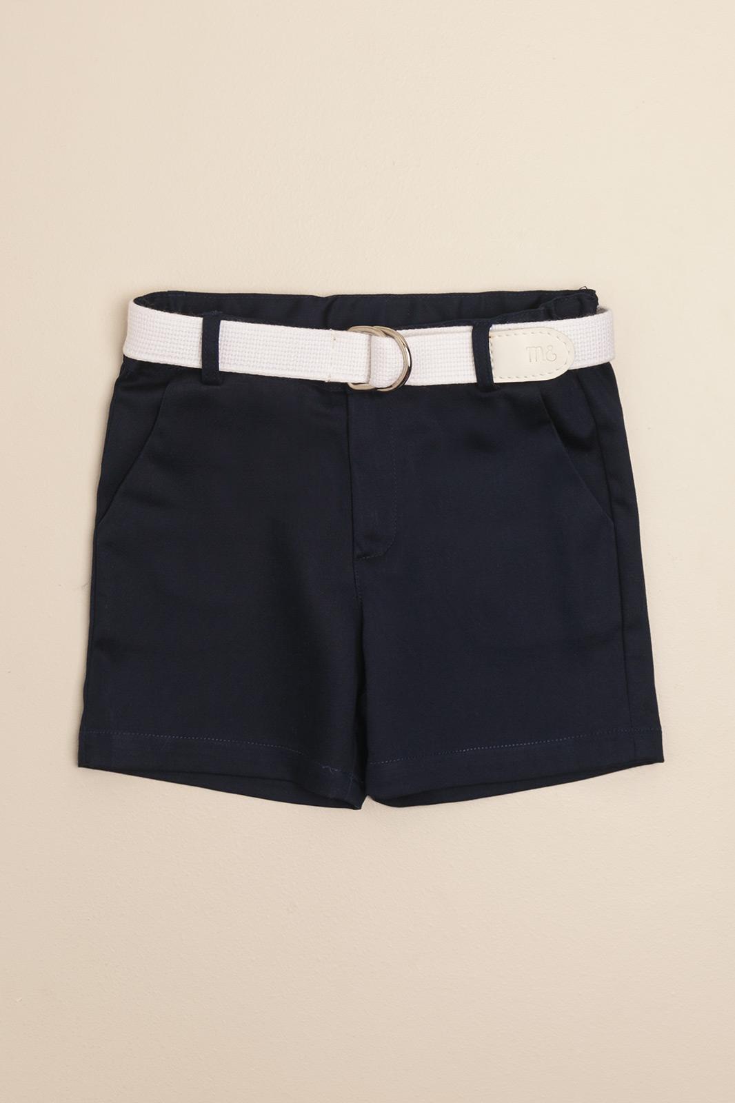 Bermuda azul con cinturon