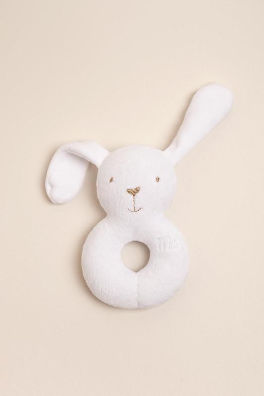 Sonajero conejo blanco