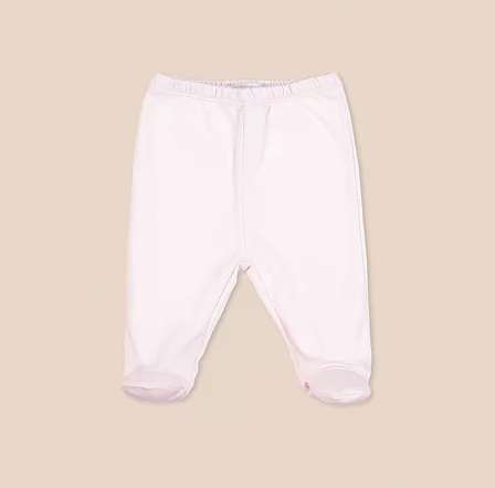 Pantalon basico con pie rosa