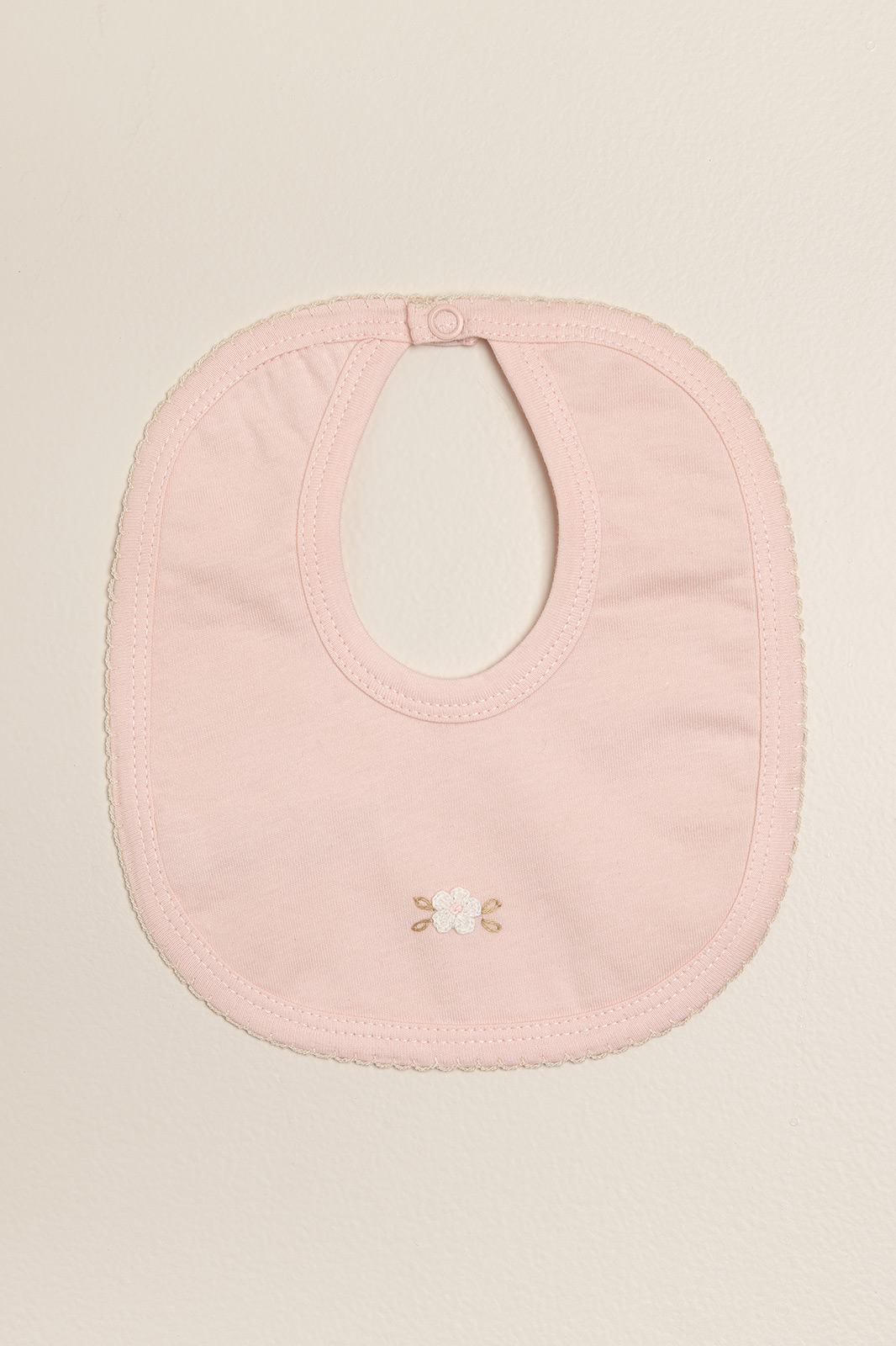 Babero bordado poline rosa
