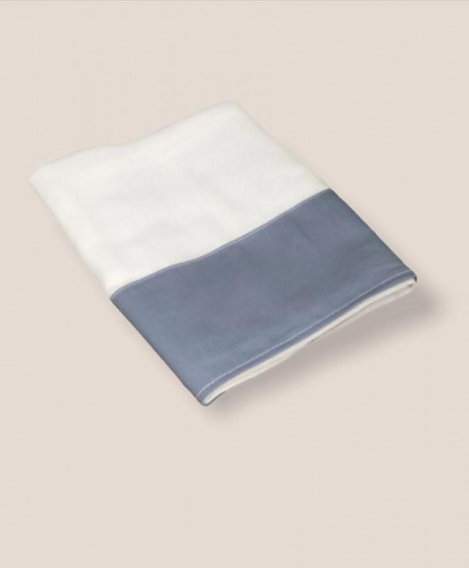 Toalla de gasa azul diamante