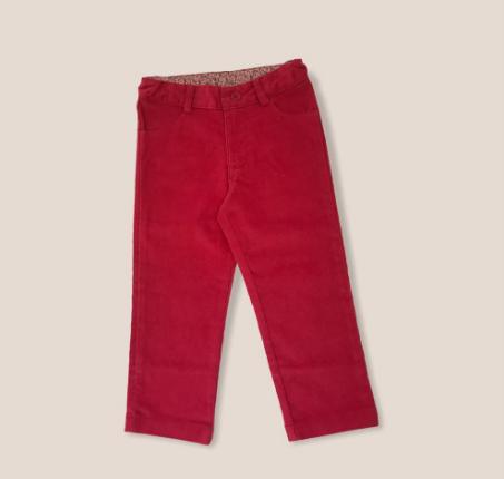 Pantalon de corderoy frutilla