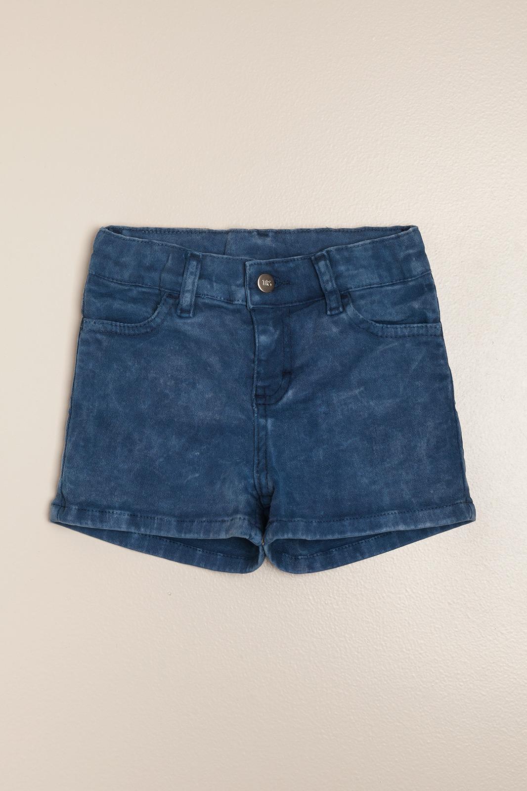 Short de gabardina azul