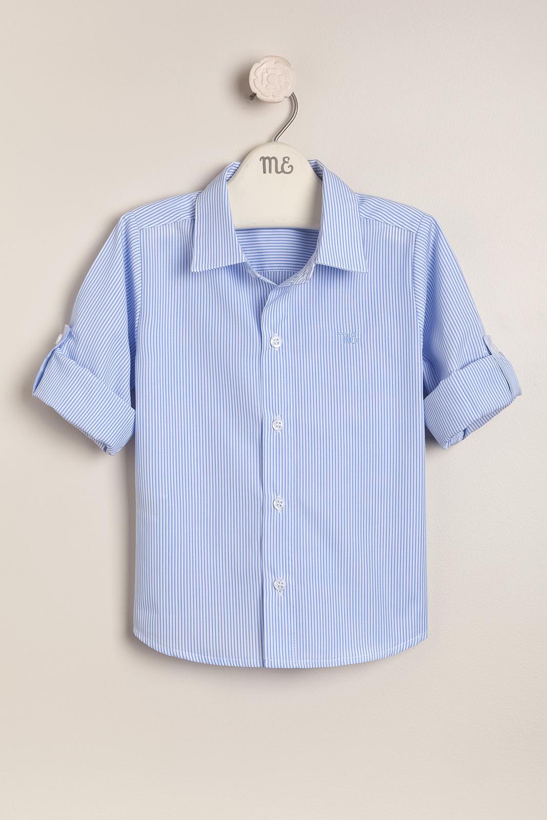 Camisa rayada bco/cel