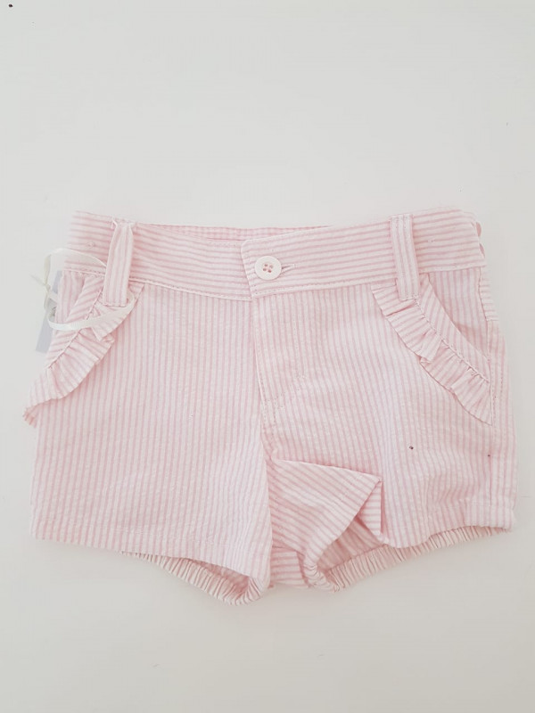 Short bb Helena rayado rosa