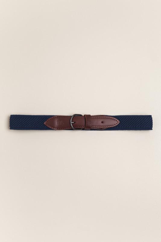 Cinturón elastizado ancho azul