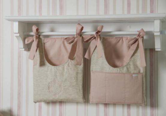 Duo porta pañales realeza rosa