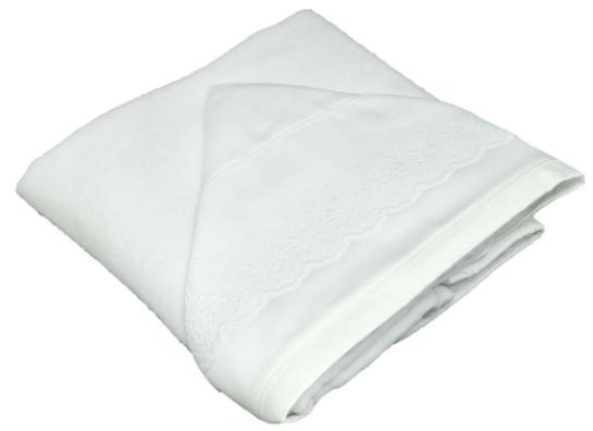 Toalla de baño doble bord. ingles blanco