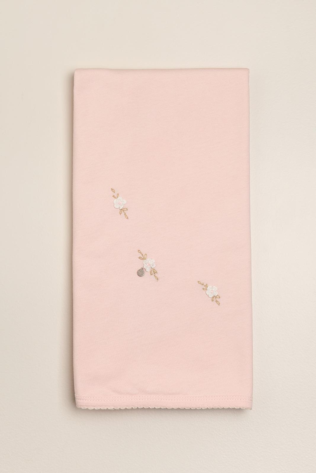 Manta bordada poline rosa