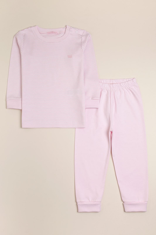 Pijama pima bco/rosa