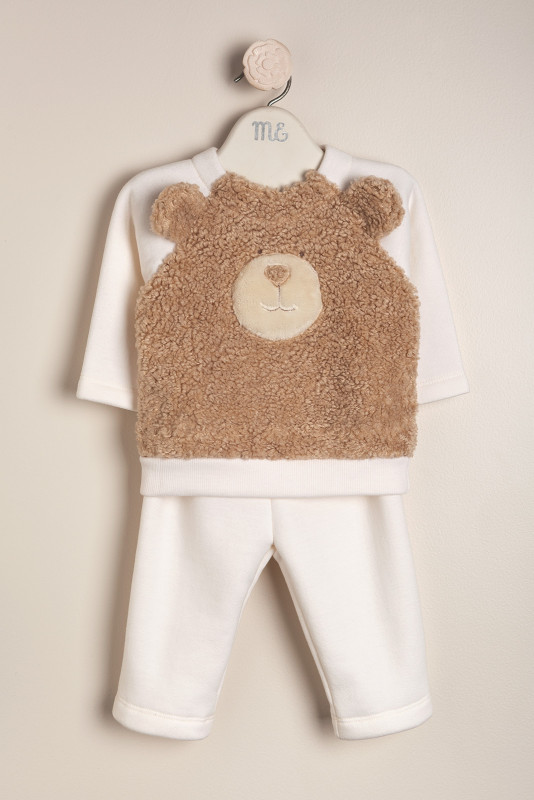 Conjunto teddy bear crudo