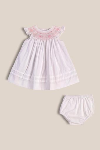 Vestido Josefina blanco smock ro