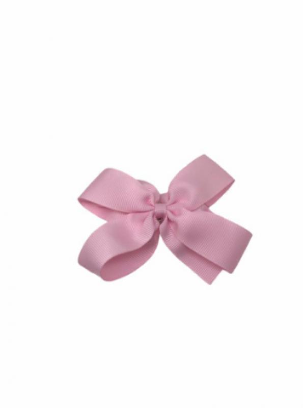 Moño mediano fino rosa