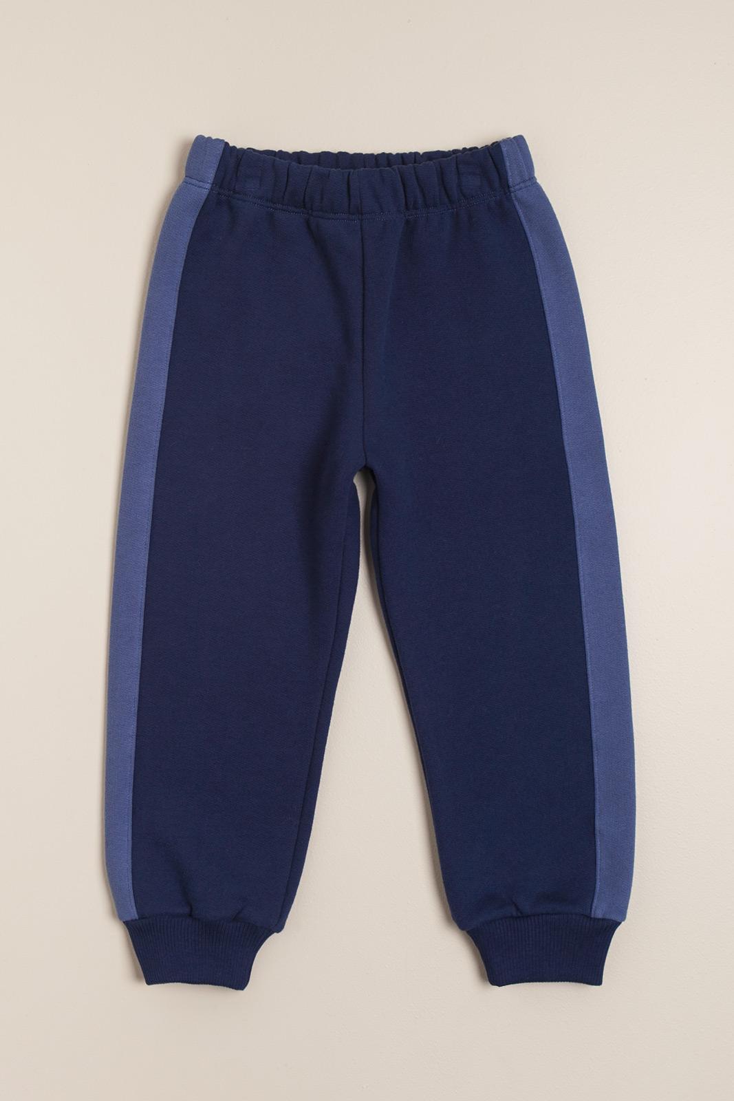 Pantalon de frisa con puño azul