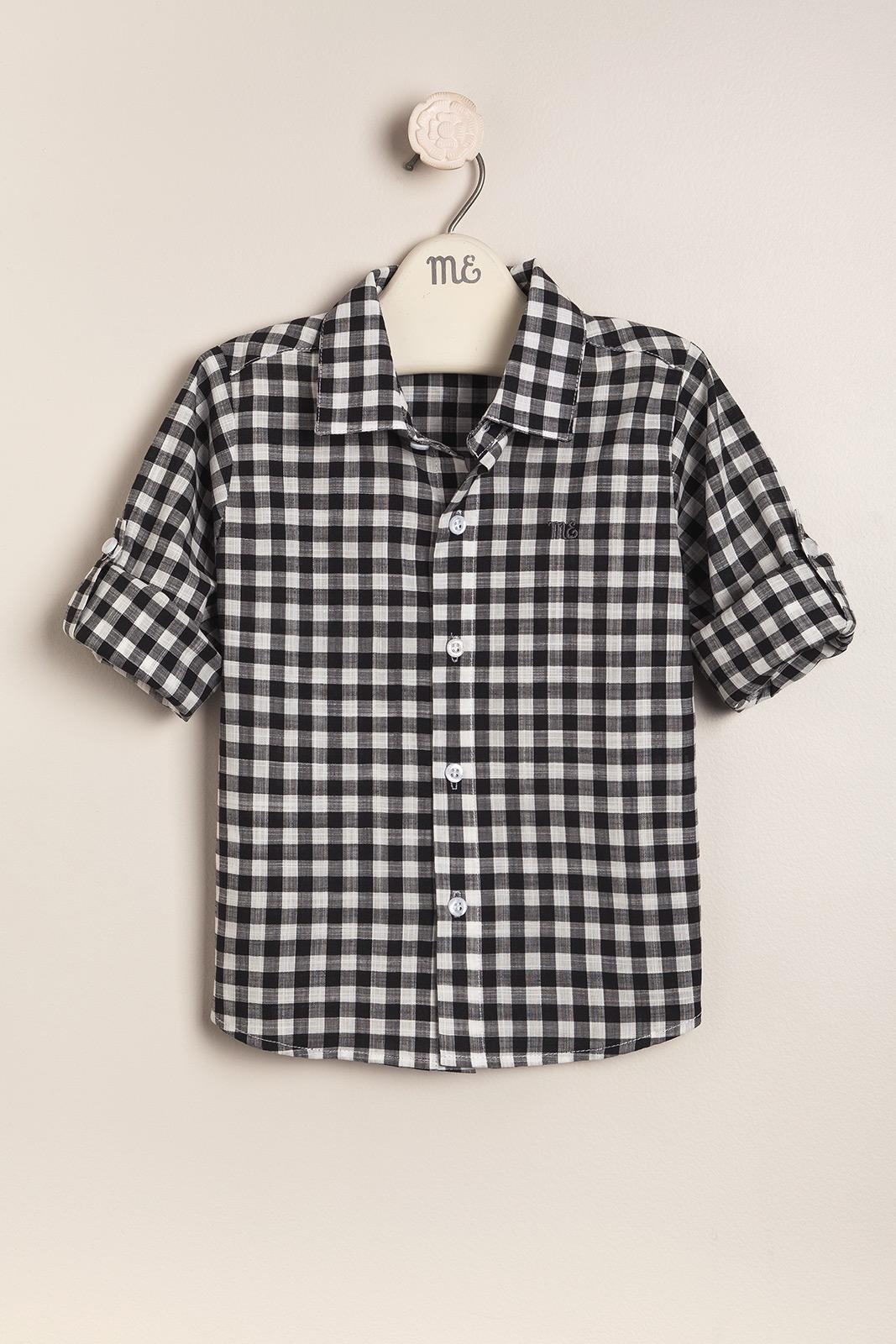 Camisa a cuadros bco/negro