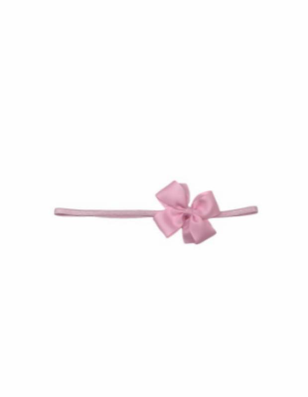 Vincha goma moño pequeño rosa