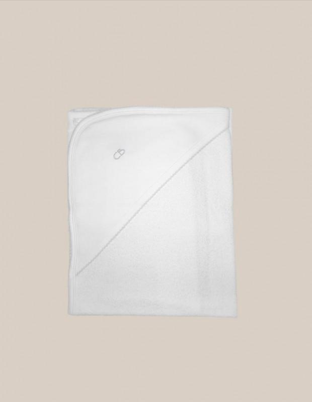 Toalla basica blanco/celeste