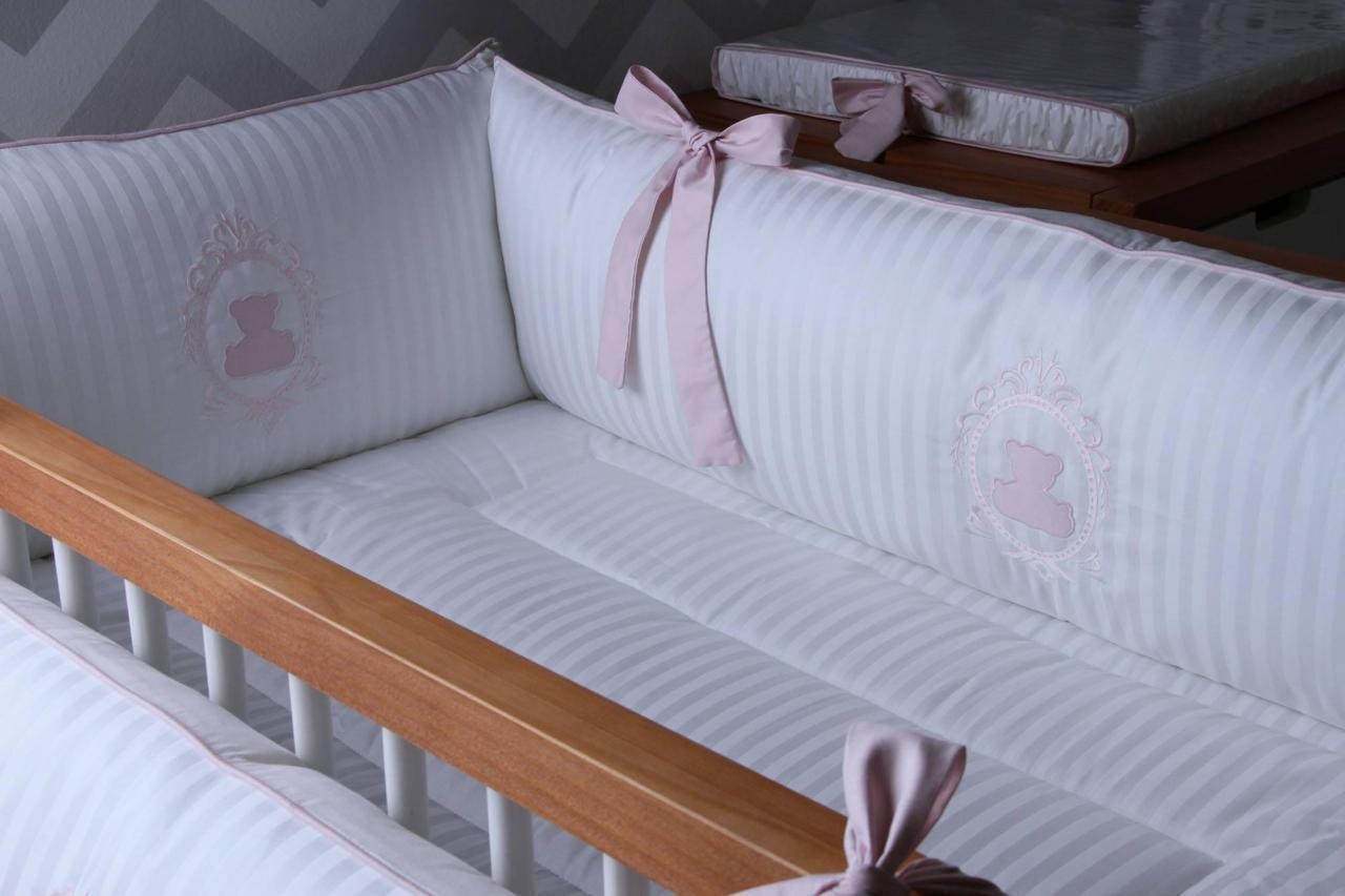 Chichonera cuna teddy rosa quartzo