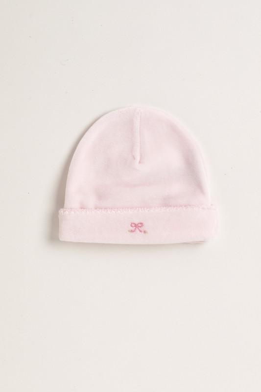 Gorro de plush moñito rosa