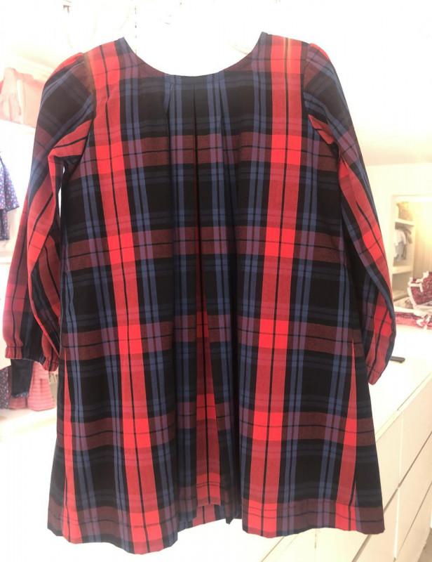 Vestido Luciana escoces rojo