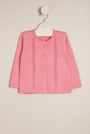 Saco mini flor calado rosa