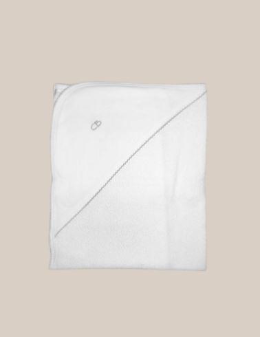 Toalla basica blanco/gris