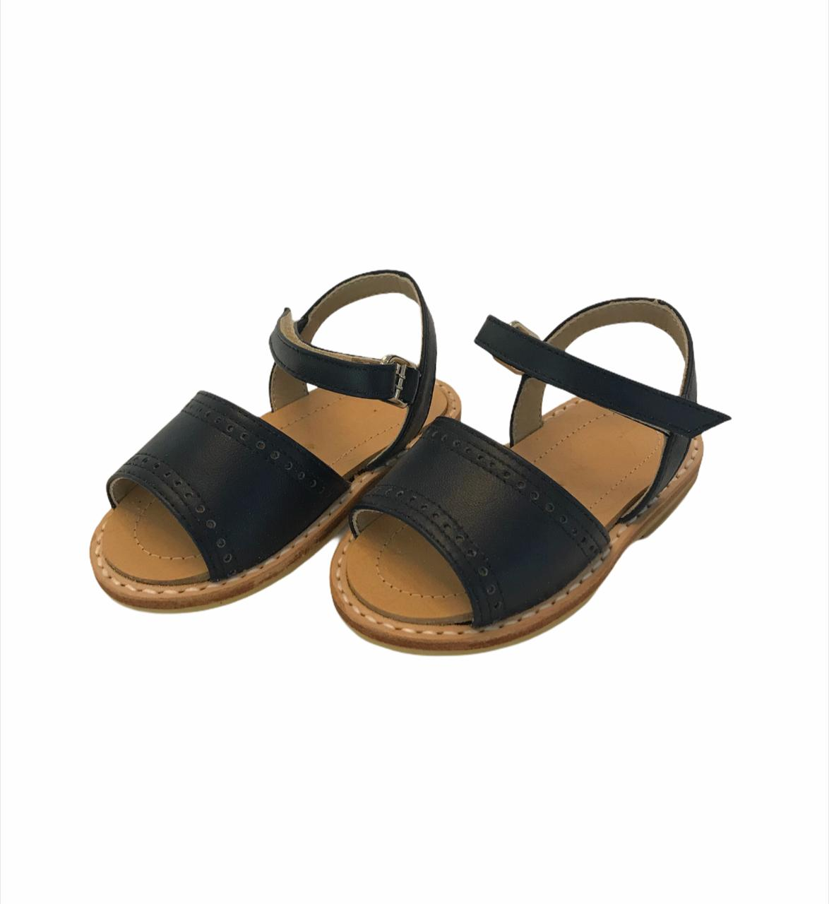 Sandalia doble puntito azul