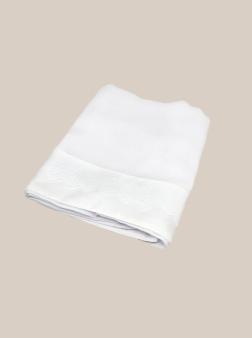 Toalla de gasa bord. ingles blanco