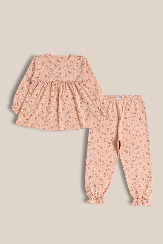 Pijama 2 piezas rosa conejitos