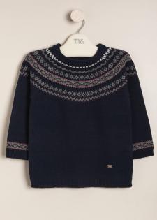 Sweater jacquard y canesu Gallo