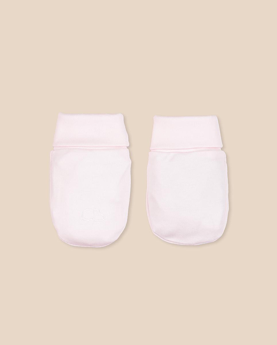 Mitones rosa/blanco