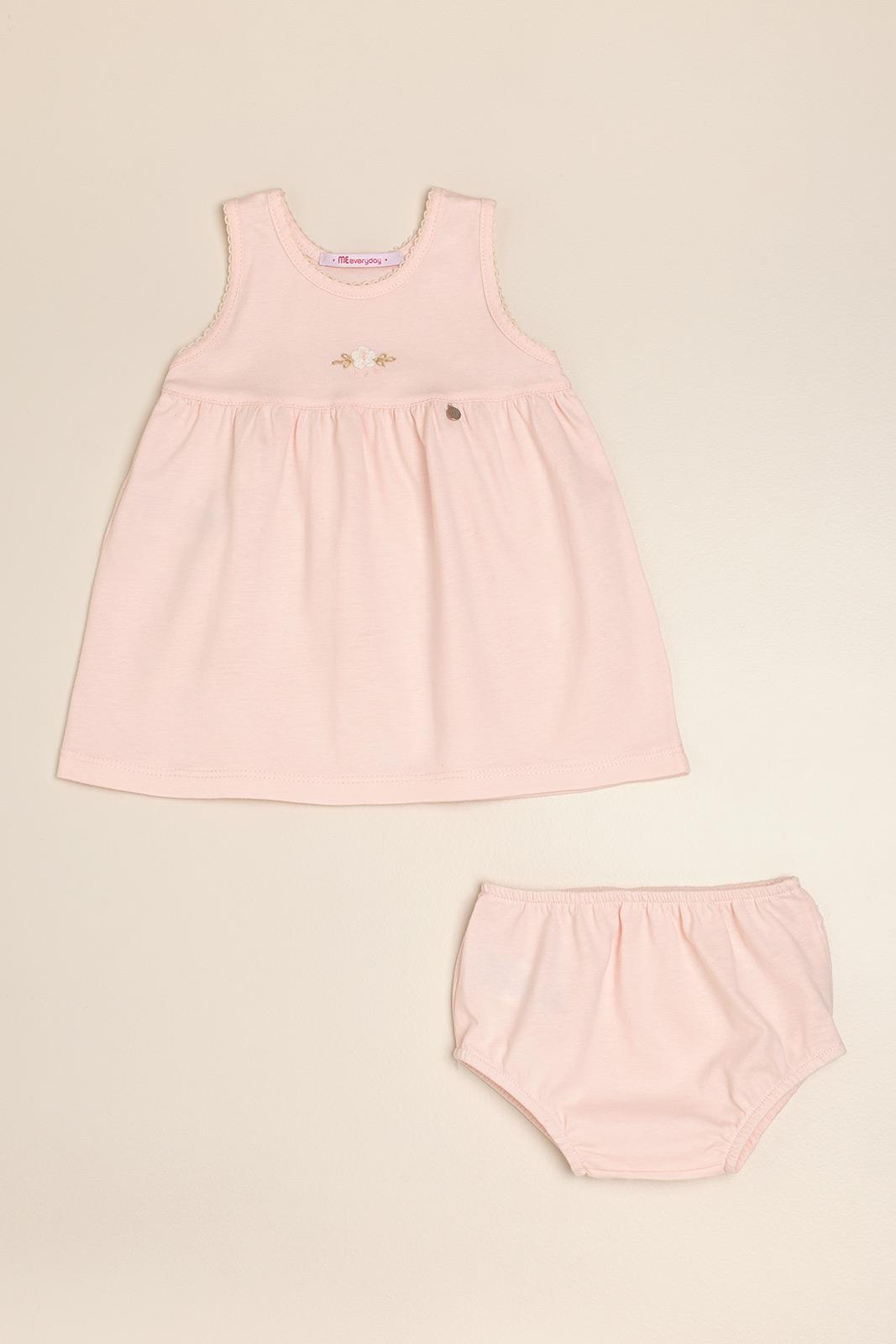 Vestido bord a mano poline rosa