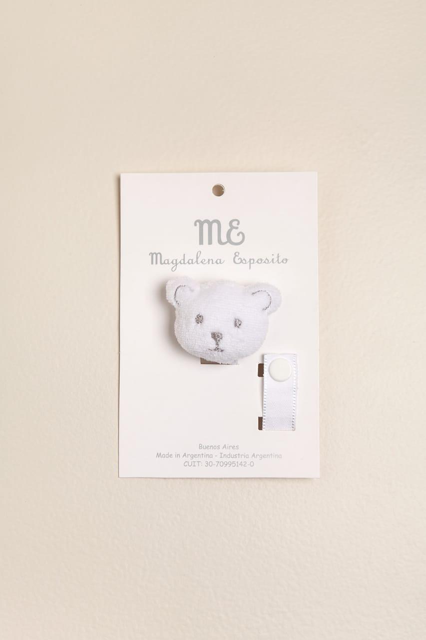 Portachupete oso blanco