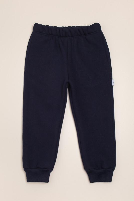 Pantalón de frisa puño y bol azul