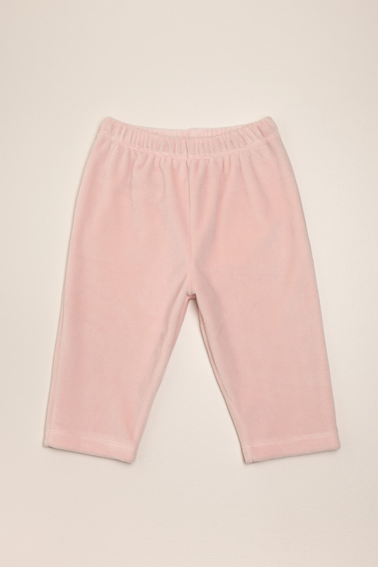 Pantalon plush cherries rosa