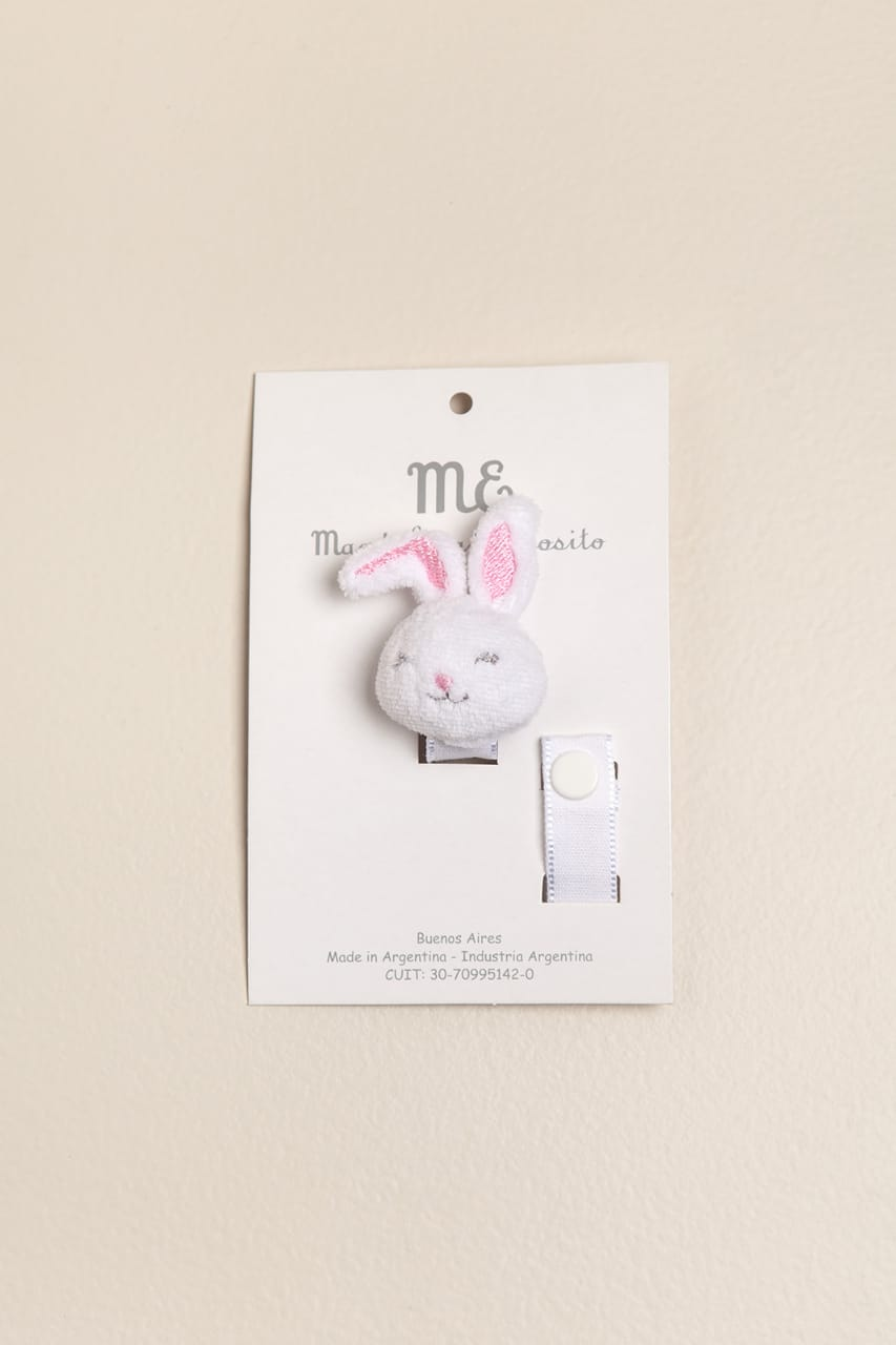 Portachupete conejo rosa