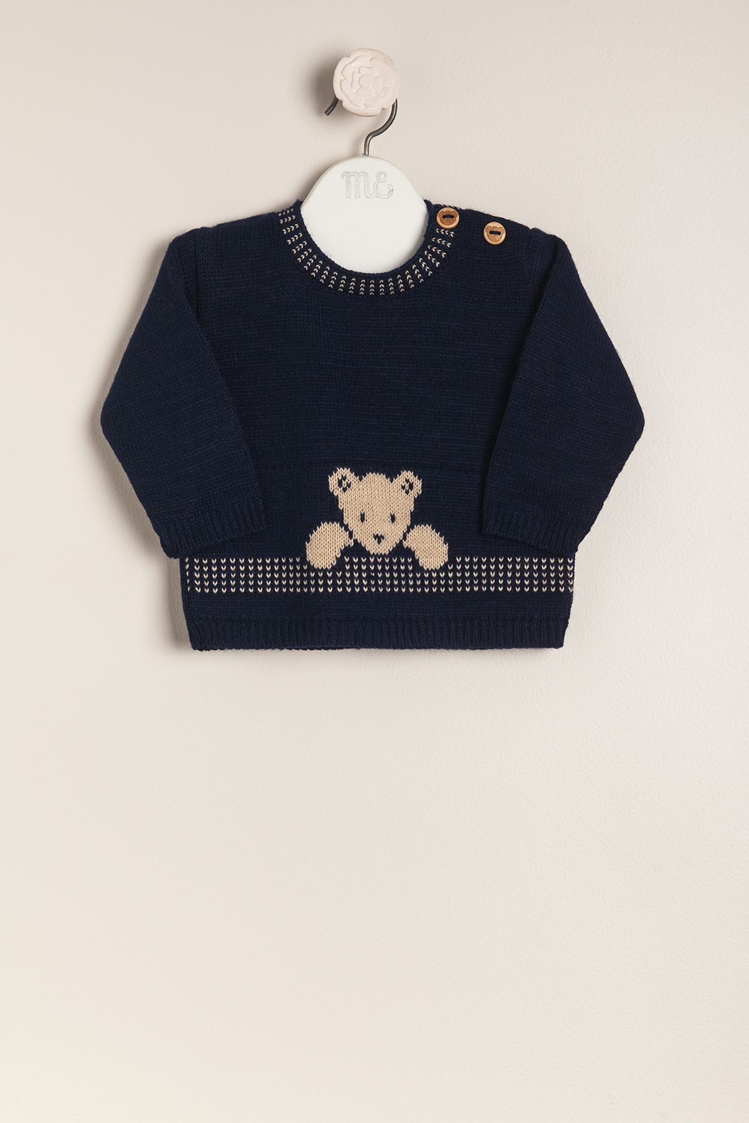 Sweater con osito baby teddy