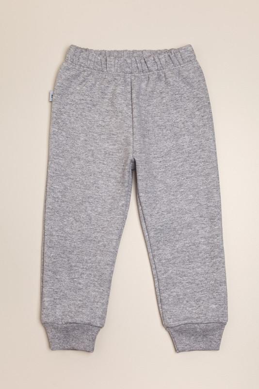 Pantalon de frisa con puño gris