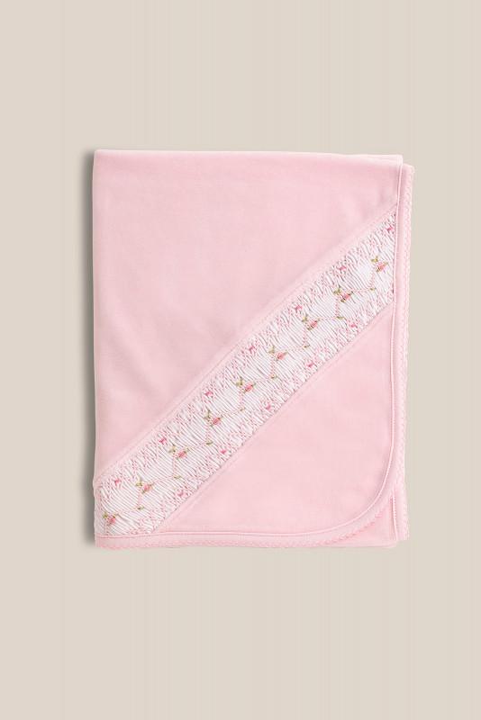 Manta plush imperial rosa