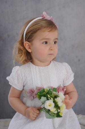 Vestido Sophia broderie 3 alf. bl